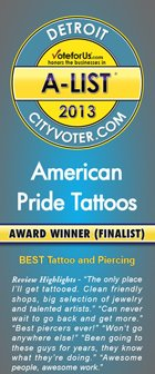 Black and White Tattoos Pontiac MI - American Pride Tattoos - 3