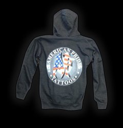 Hoodies Waterford MI - Apparel, Steadfast Brand Clothing - American Pride Tattoos - 3