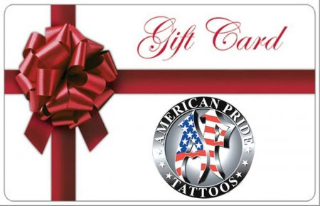 Gift Cards Waterford MI - Tattoos, Piercings, Permenant Makeup - American Pride Tattoos - gift_card_ap1